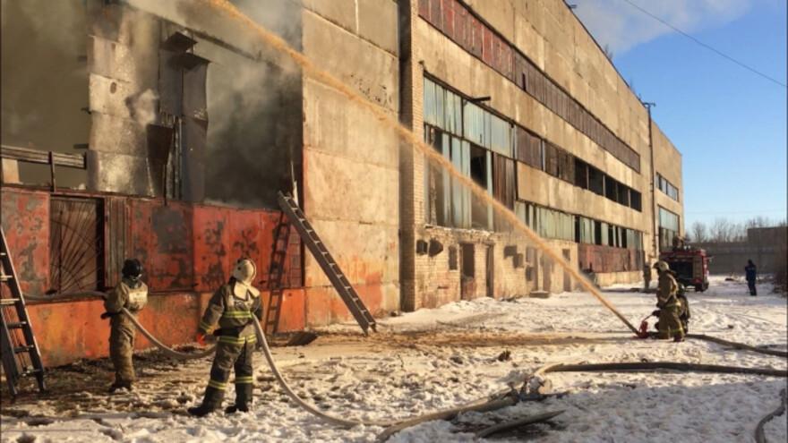 Появилось видео пожара в Сызрани
