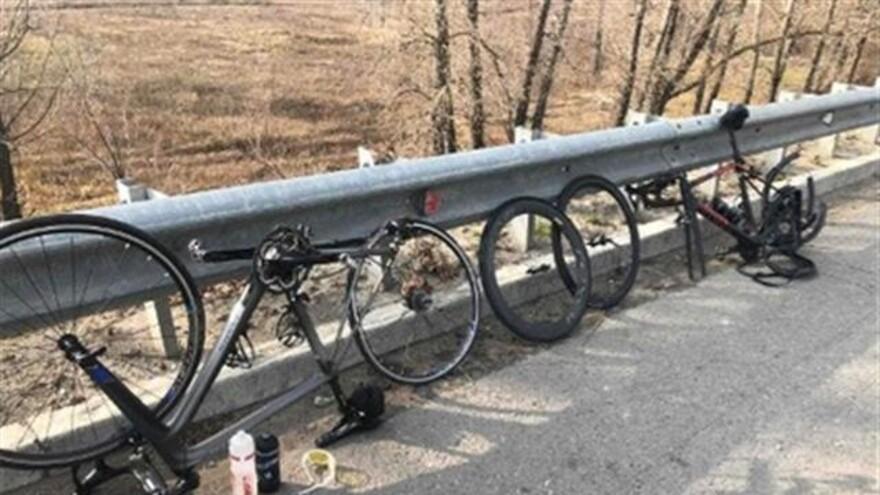 В Самарской области машина сбила колонну велосипедистов