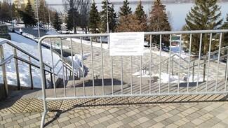 В Самаре закрыли набережную из-за коронавируса