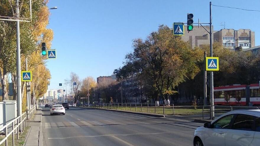 В Самаре восстановлена работа светофора на улице Ново-Садовой
