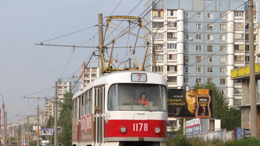 В Самаре сократили маршрут трамвая №13