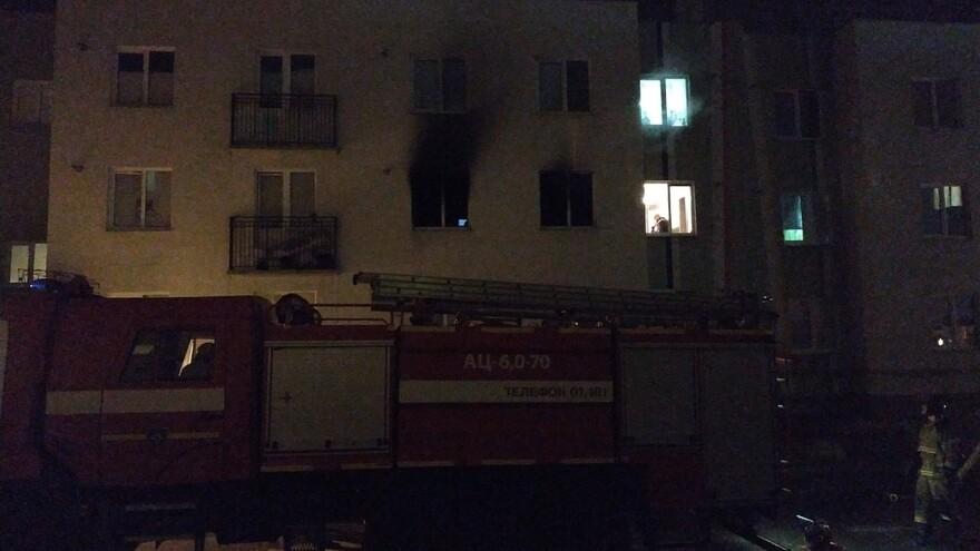 В Кошелеве загорелась квартира