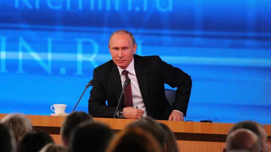 В Москве проходит XIV большая пресс-конференция президента России Владимира Путина