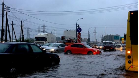Трассу М-5 Урал в Самарской области затопило