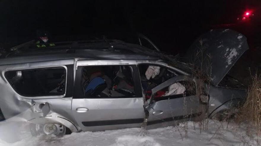 В Самарской области перевернулась машина с женщиной и двумя детьми
