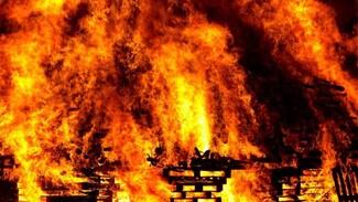 В Самарской области сгорел дом на глазах у шокированной хозяйки