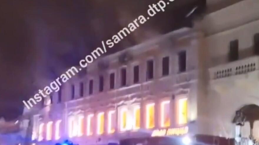 В Самаре на Ленинградской горел склад