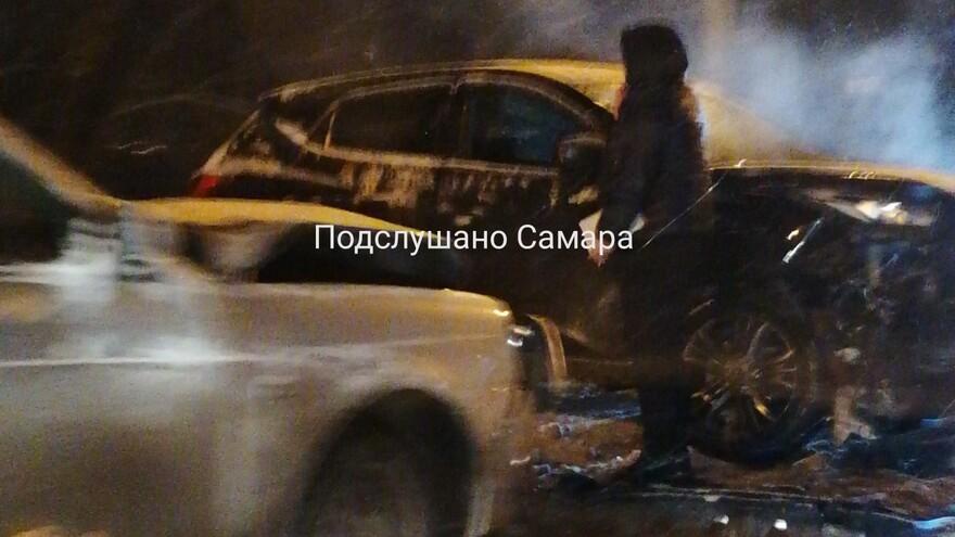 В Самаре из-за аварии на Южном шоссе образовалась автомобильная пробка
