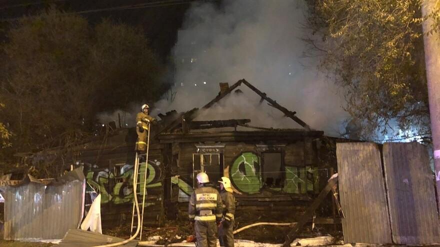 В Самаре горел двухэтажный дом