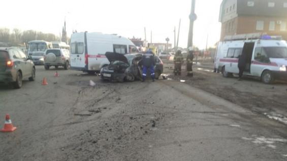 На Новокуйбышевском шоссе произошло смертельное ДТП. Видео