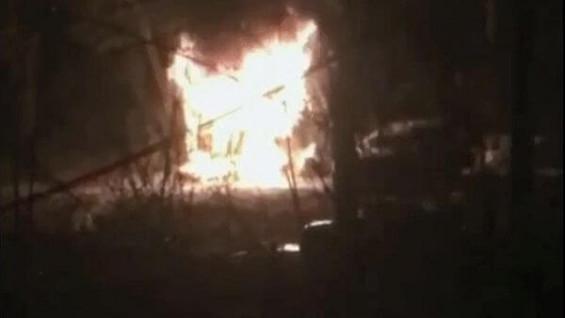 В Самарской области при пожаре пострадал мужчина