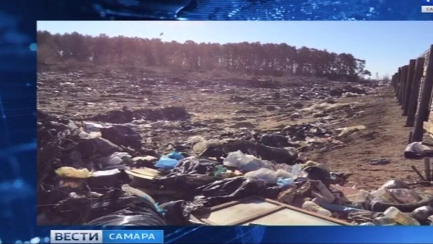 В Самарской области ликвидируют незаконную свалку в Рождествено