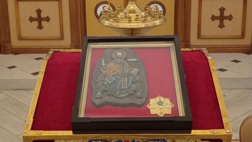 В Самару доставили ковчег с мощами святителя Николая Чудотворца
