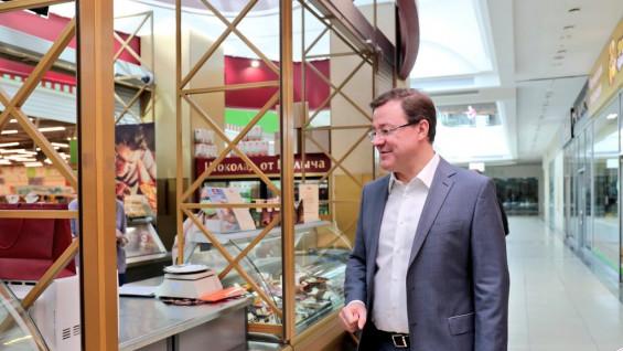 Губернатор Дмитрий Азаров прошелся по магазинам Самары