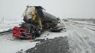 Узнали подробности смертельной аварии под Сызранью с участием двух бензовозов