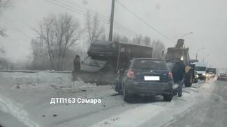 В Самаре на Южном шоссе из-за «лобового» ДТП встало движение