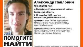 В Самарской области с конца декабря ищут 18-летнего юношу