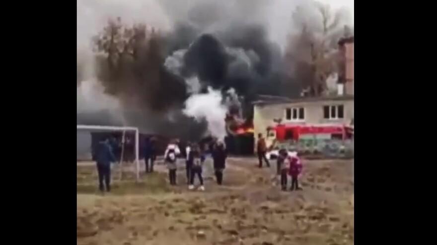 В Тольятти Мицубиси сгорел прямо в гараже