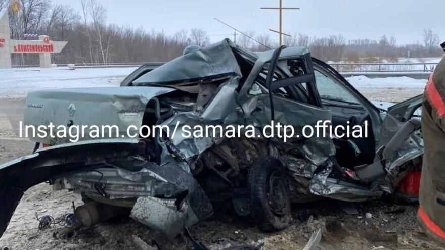 Машины превратились в консервные банки: страшное ДТП на трассе в Самарской области