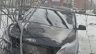 Водитель на «Киа» врезался в новогоднюю конструкцию в Тольятти