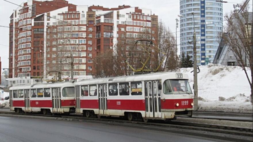 Жители Самары пожаловались на холодные трамваи