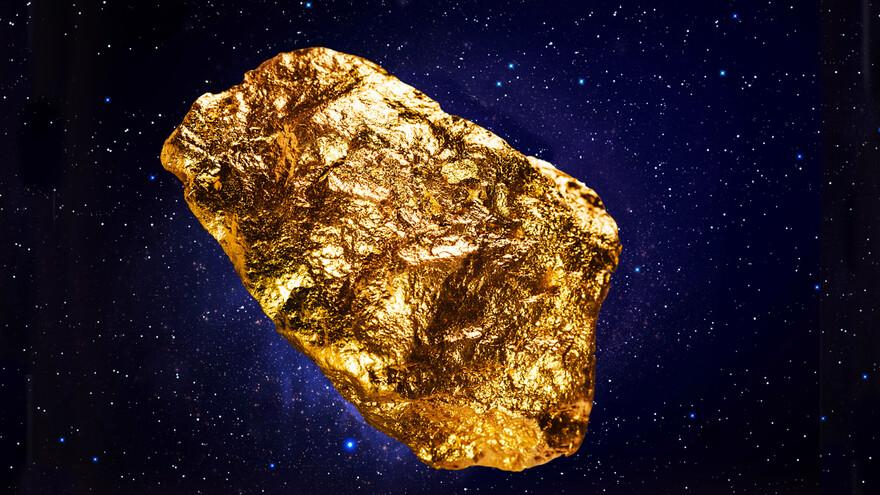 В космосе обнаружен золотой астероид