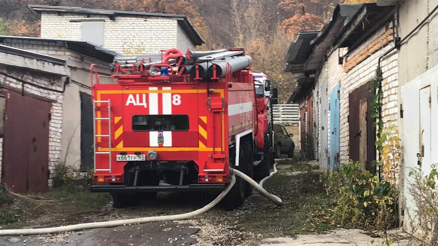 В Самаре растет площадь пожара