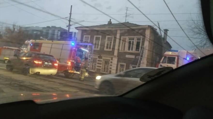 В центре Самары горел многоквартирный дом