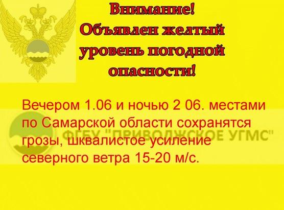 В Самарской области пройдут грозы и усилится ветер