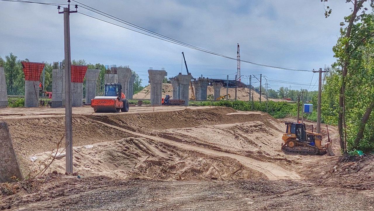 В Самаре продолжается строительство развязок у Самарского моста