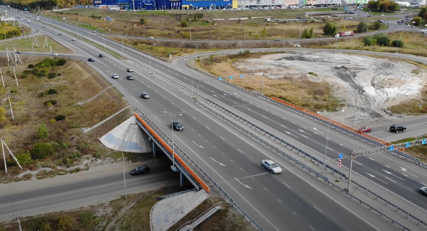 В Самаре сняли с воздуха участок будущего строительства новой транспортной развязки у IKEA