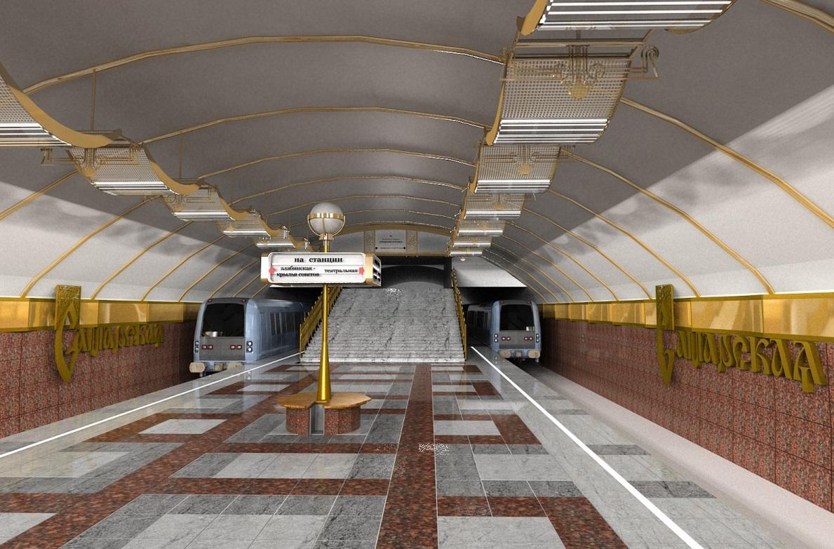 В Самаре представили общественности схему расположения станции метро «Самарская»