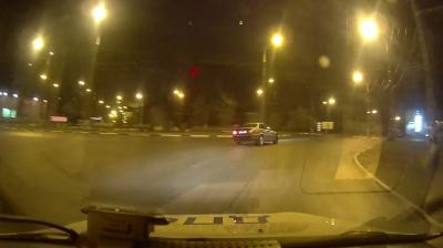 Появилось видео ночной погони за рецидивистом в Самарской области