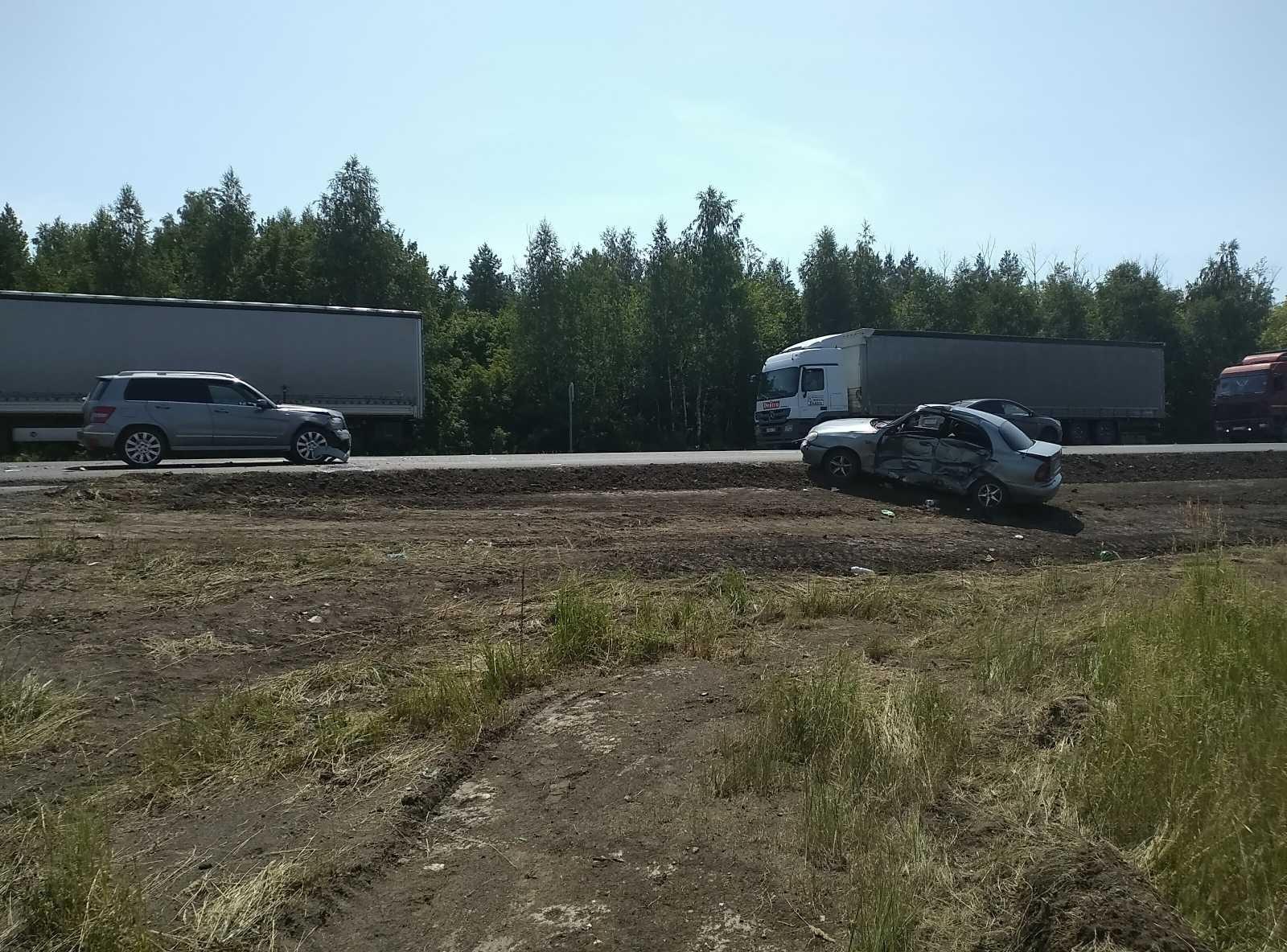 В Самарской области попал в аварию буксируемый автомобиль