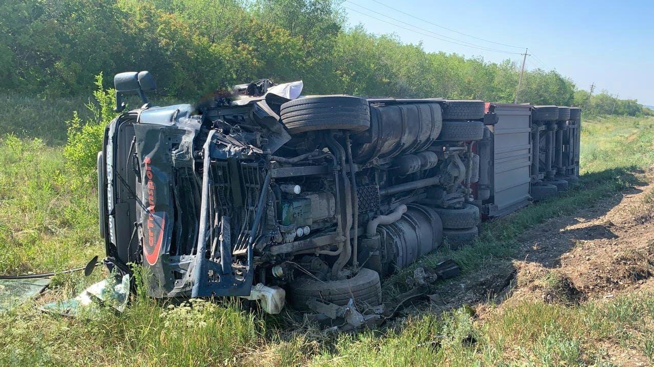 В Самарской области в ДТП на трассе 3 человека погибли в сгоревшем автомобиле