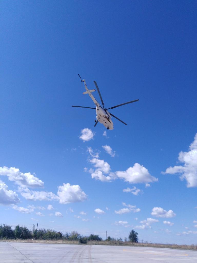 В Самарской области запущен в работу вертолет санавиации