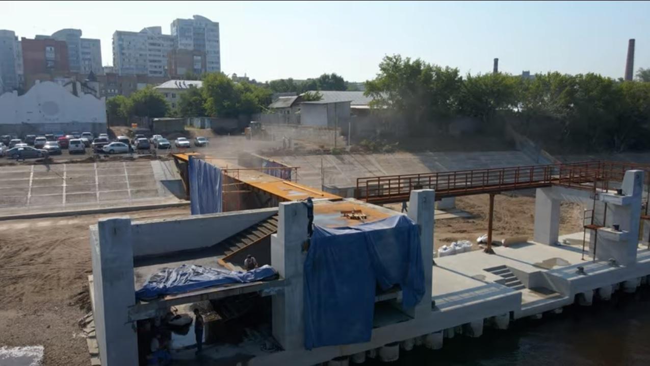 В Самаре на новом причале в июле 2021 года начали возводить второй этаж