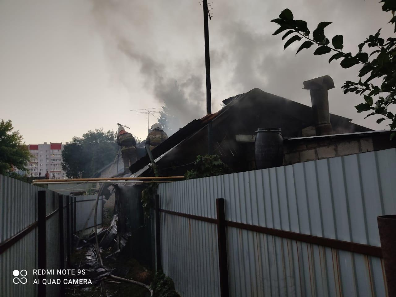 Видео: в Самаре 11 сентября 2021 года сгорел частный дом