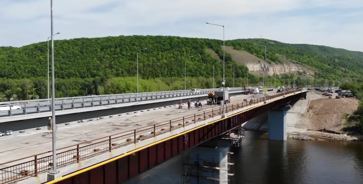 В Самаре закрыт старый мост через реку Сок для движения транспорта