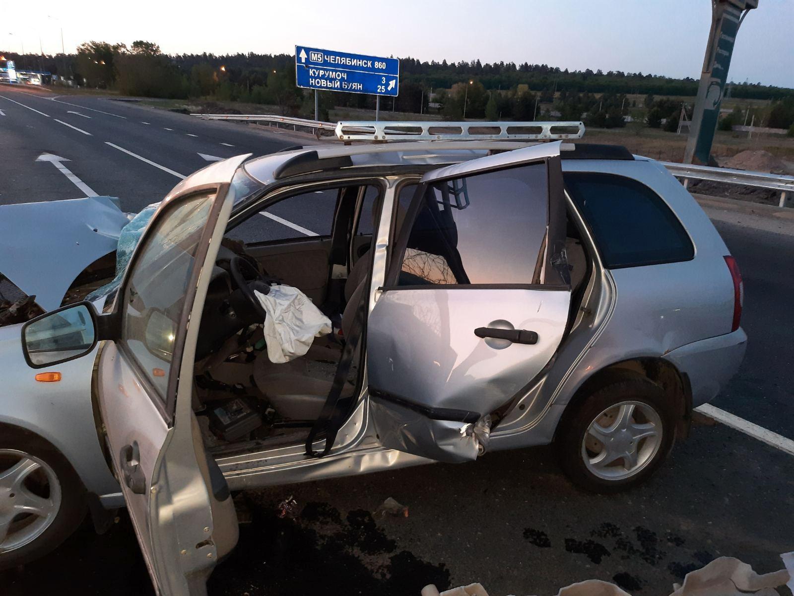 На М-5 под Самарой неопытный водитель оказался на волосок от смерти