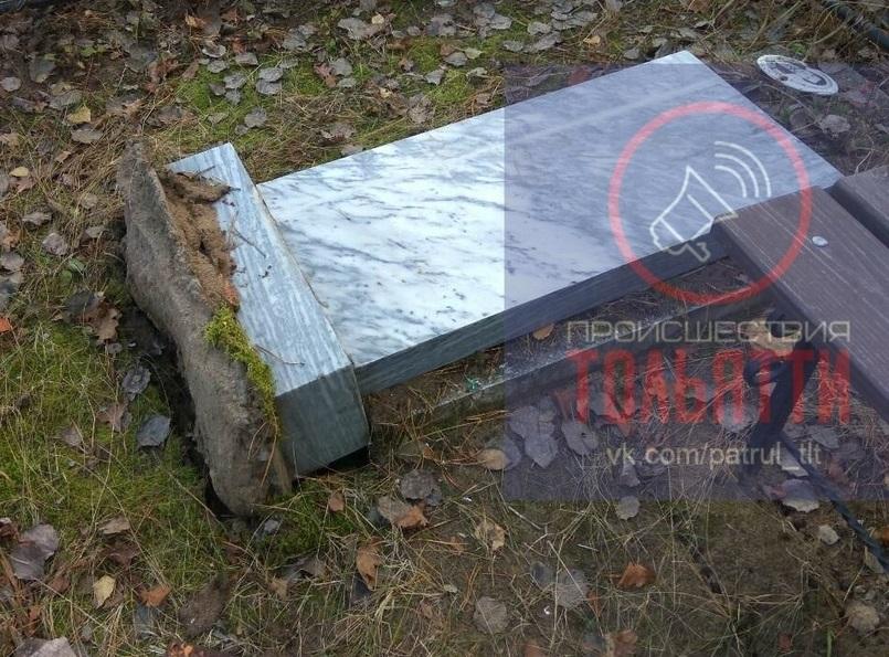 В Тольятти орудуют вандалы на Баныкинском кладбище