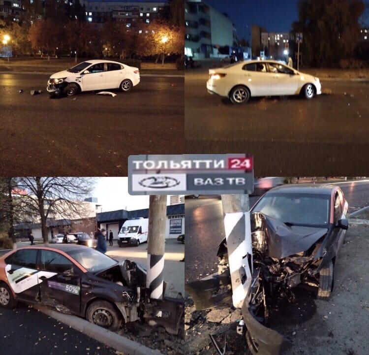 На улице Дзержинского в Тольятти столкнулись два автомобиля: есть пострадавшие