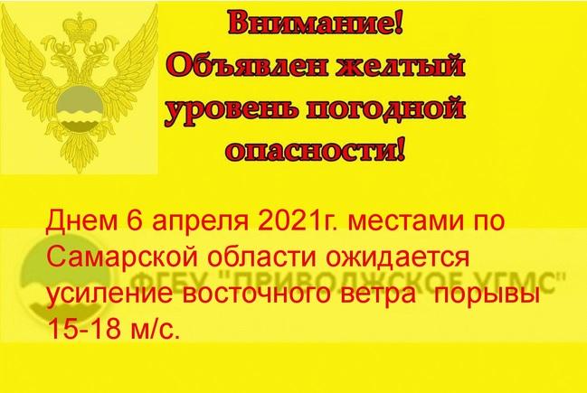 Вторник в Самарской области начнется с сильного ветра
