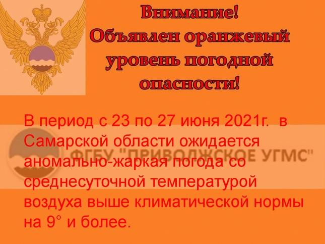 Жара в Самарской области усилится до +36 градусов в тени