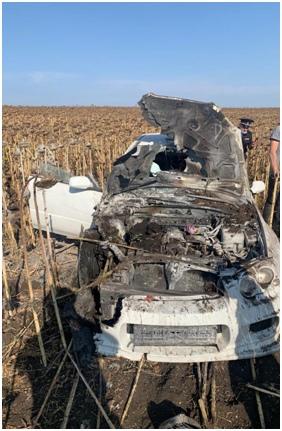 В Самарской области пьяный водитель с пассажирами попал в огненную западню