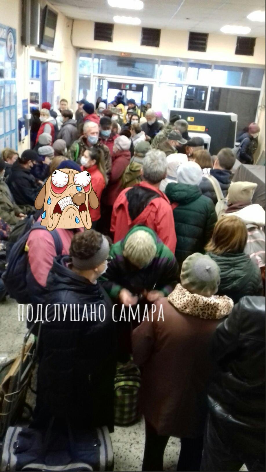 Самарцы пожаловались на большую очередь в кассу речного вокзала
