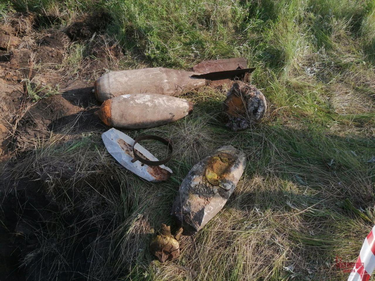 В Самарской области нашли авиационные бомбы