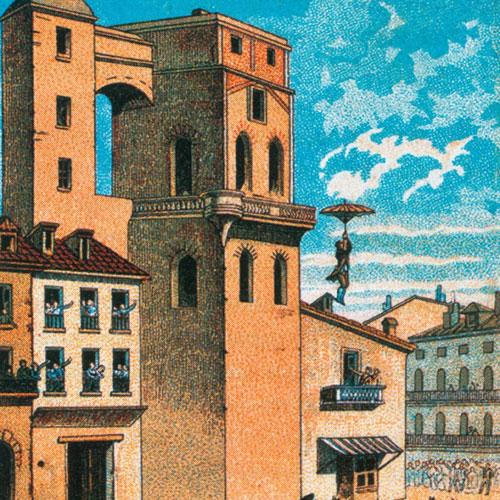 Картинки по запросу 1783 - Продемонстрирован первый в истории прыжок с парашютом с высоты.