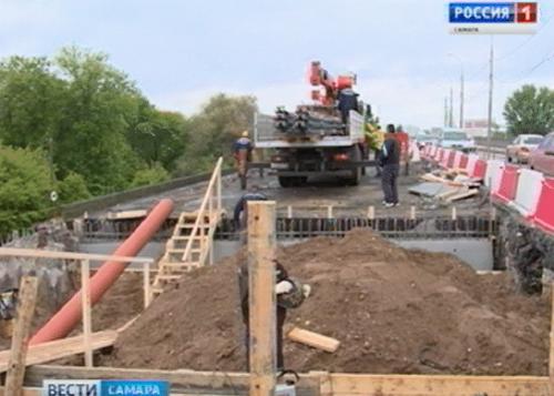 Реконструкция левой части Южного моста вСамаре выполнена наполовину