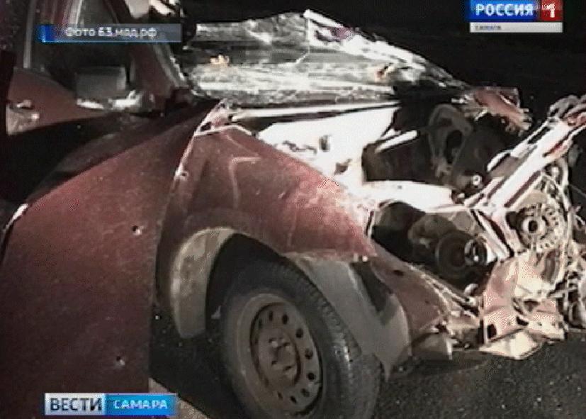 Смертоносная авария под Самарой: столкнулись легковое авто, ГАЗель иКАМАЗ